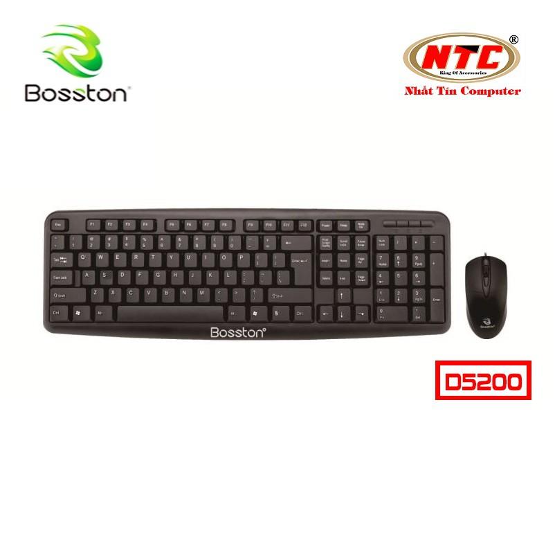 Bộ bàn phím và chuột văn phòng Bosston D5200 có dây (Đen) - Hãng phân phối chính thức - 2535732 , 1074215384 , 322_1074215384 , 150000 , Bo-ban-phim-va-chuot-van-phong-Bosston-D5200-co-day-Den-Hang-phan-phoi-chinh-thuc-322_1074215384 , shopee.vn , Bộ bàn phím và chuột văn phòng Bosston D5200 có dây (Đen) - Hãng phân phối chính thức