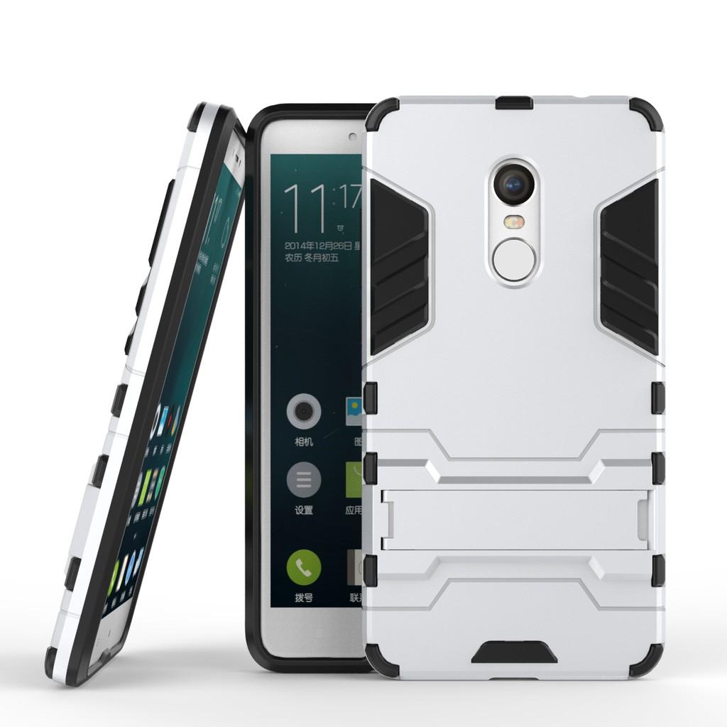 Ốp lưng chống sốc Iron Man dành cho Xiaomi Redmi Note 4 (Bạc)