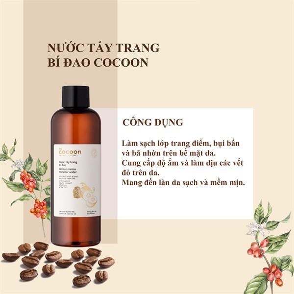 Nước Tẩy Trang Bí Đao Cocoon Winter Melon Bí Đao Làm Sạch Da Và Giảm Dầu  500ml - Tẩy trang Nhãn hiệu cocoon | MuaDoTot.com
