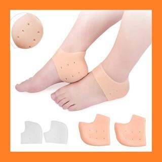 miếng lót gót chân cao su mềm - set 2 đôi vớ silicon bảo vệ gót chân khi mang giày