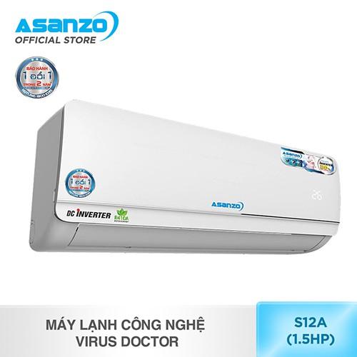 Máy lạnh công nghệ Virus Doctor Asanzo S12A (1.5HP) - 3536750 , 1075327436 , 322_1075327436 , 7190000 , May-lanh-cong-nghe-Virus-Doctor-Asanzo-S12A-1.5HP-322_1075327436 , shopee.vn , Máy lạnh công nghệ Virus Doctor Asanzo S12A (1.5HP)