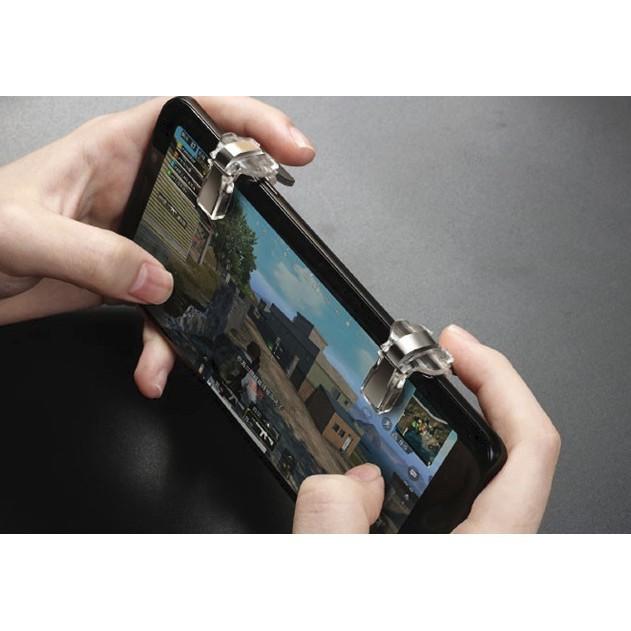 [Hàng Cao Cấp] Bộ 2 Nút Bấm Cơ S4 Kim Loại Trong Suốt Hỗ Trợ Chơi Game PUBG Mobile, Ros Mobile