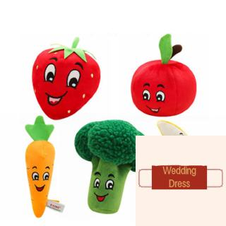 ❥A-❥-Plush Vocal Pet Toys Simulation Fruits and Vegetables Plush Pet Chew Squeaky Toys Pet Supplies
