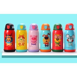 BEDDYBEAR Bình giữ nhiệt cho bé dung tích 580-630ml inox cao cấp 316 3 nắp ống hút,giữ nhiệt,uống trực tiếp,tặng túi đeo thumbnail