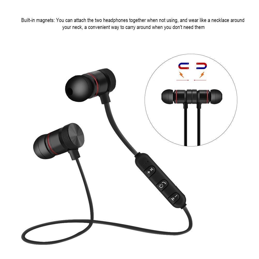 Tai nghe nhét tai Bluetooth 4.1 không dây âm thanh Stereo có nam châm