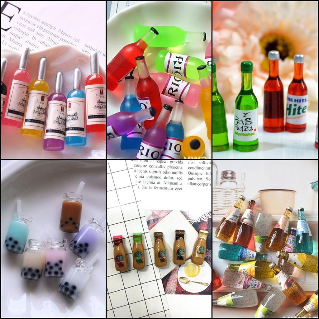 Set 5 mô hình trang trí nhà cửa đồ chơi nhà búp bê dùng cho slime