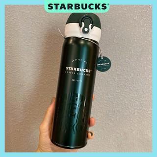 Bình đựng nước giữ nhiệt STARBUCKS X THERMOS màu xanh rêu Dung tích 500ml
