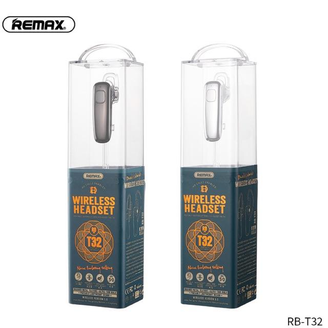Tai nghe không dây bluetooth Remax RB-T32  V5.0 dòng 1 tai chất lượng âm thanh và mic tốt chính hãng