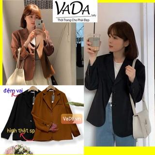 Áo khoác cổ Vest công sở Nhẹ Nhàng có đệm vai, không túi ,1 lớp nhé khách xinh lắm ạ - Thời Trang VADA (AU6) thumbnail