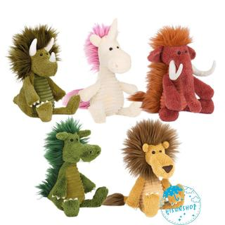 ☀Sun❤Kids Plush Cartoon Animals Shaped Toys Mammoth Rhino Lion Unicorn Wild Boar Dragon toy