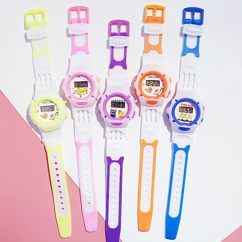 Đồng hồ điện tử cho trẻ em Candycat dây cao su