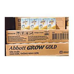 1 Thùng 36 hộp Sữa Bột Pha Sẵn Abbott Grow Gold 110ml