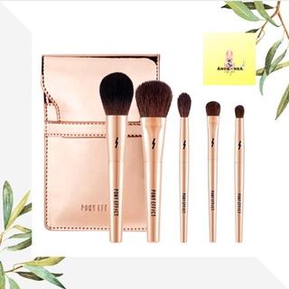 Bộ cọ trang điểm mini size 💕𝙋𝙤𝙣𝙮 𝙀𝙛𝙛𝙚𝙘𝙩💕♥️♥️ Mini Make up Brush 5 cây