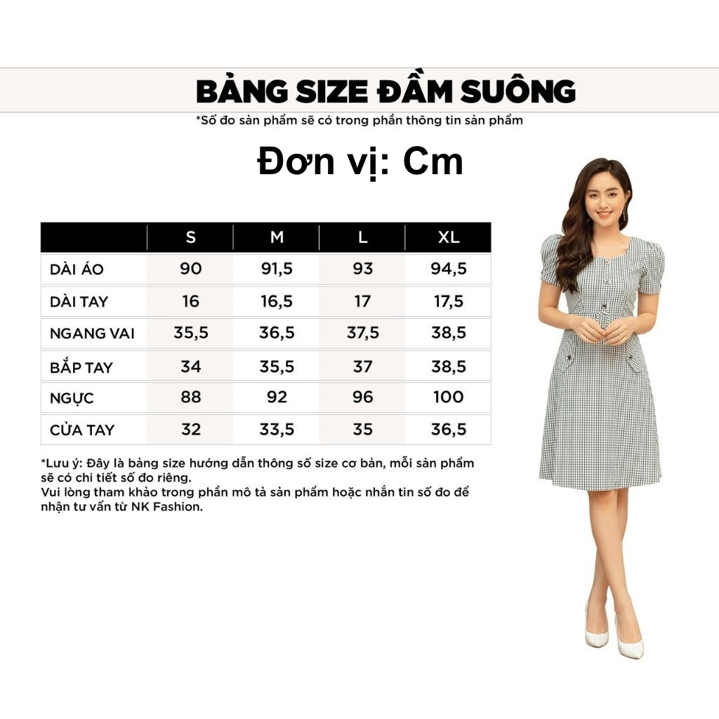 Mặc gì đẹp: Sang trọng với Váy Thiết Kế Công Sở NK Fashion Đầm Cổ Đức Tay Lỡ Kèm Đai Eo, Vải Nhập Hàn Cao Cấp NKDV2104004