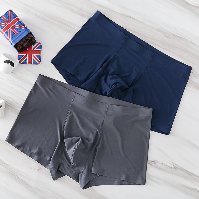 ( Hàng Chuẩn ) Quần sịp nam quần lót boxer đúc hàng chuẩn chất lụa - quần sịp đúc không đường may không viền