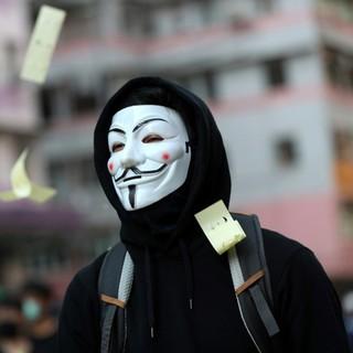 Mặt nạ Hacker Anonymous hóa trang màu trắng chất liệu an toàn thumbnail