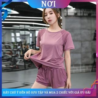 ✗✘Bộ đồ tập yoga nữ mùa hè kiểu dáng rộng rãi lưới mỏng màu đỏ thể thao nhanh khô vào buổi sáng hai mảnh