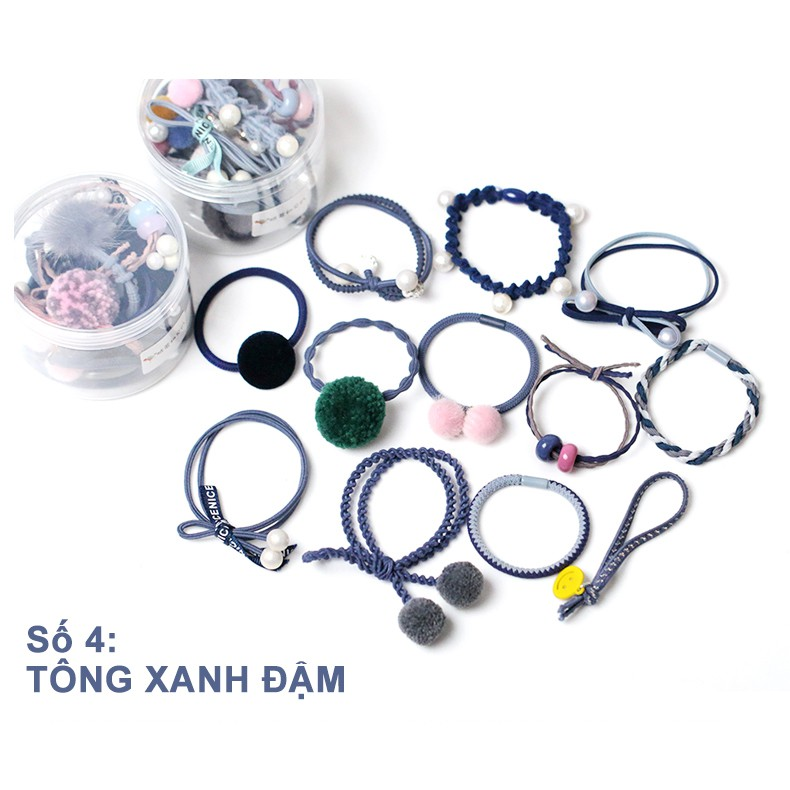 Set 12 cột tóc Hàn Quốc (xanh đậm) - CT034 - 10076670 , 1054646515 , 322_1054646515 , 164400 , Set-12-cot-toc-Han-Quoc-xanh-dam-CT034-322_1054646515 , shopee.vn , Set 12 cột tóc Hàn Quốc (xanh đậm) - CT034