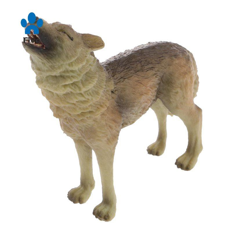 Realistic Howling Wolf Figurine el Action Figure Kid Toy Gift