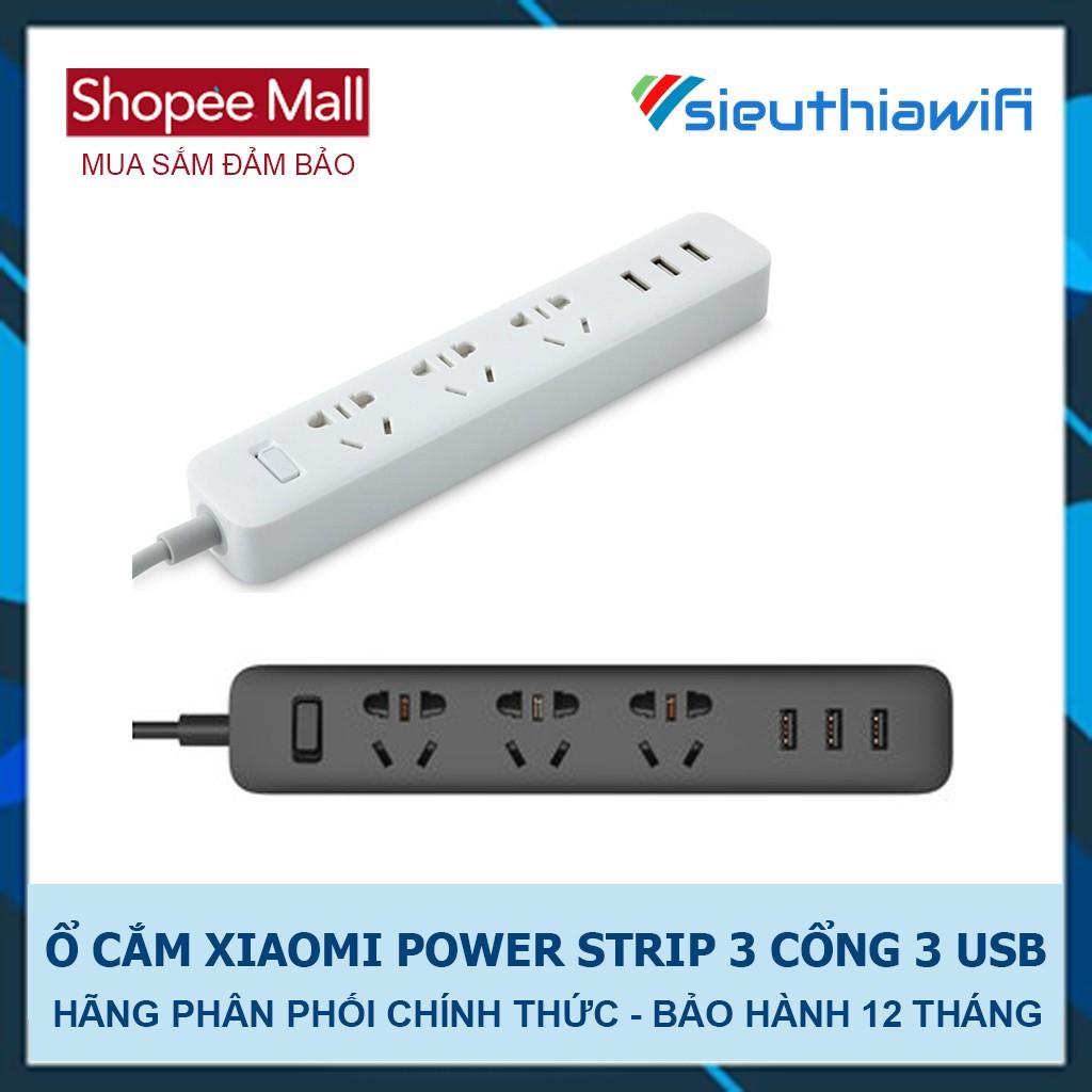 [ CHÍNH HÃNG DIGIWORLD ] - Ổ CẮM XIAOMI POWER STRIP 3 CỔNG 3 USB