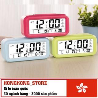 Đồng hồ báo thức đèn LED kỹ thuật số đa chức năng : báo giờ, báo nhiệt độ, báo thời tiết, hẹn giờ, xem lịch