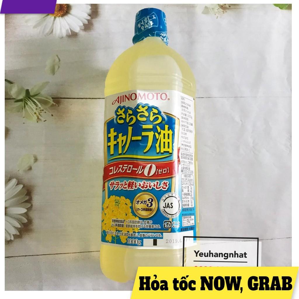 [NHẬT BẢN] Dầu ăn hạt cải Ajinomoto nội địa Nhật Bản