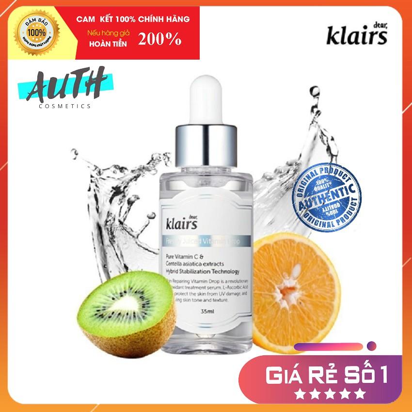 Tinh chất vitamin C mờ thâm sáng da Klairs Freshly Juiced Vitamin Drop Serum 35ml Auth Hàn Quốc