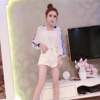 Đặt phụ nữ thời trang quần áo giản dị yếm trong cao eo quần short thời trang ba