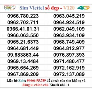 Sim Viettel V120 đầu 09 số đẹp giá rẻ 11