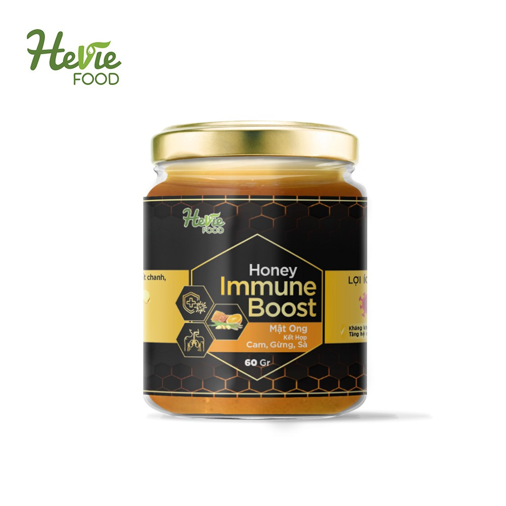 Mật ong Immuneboost chiết xuất Cam Gừng Sả 60g HeVieFood