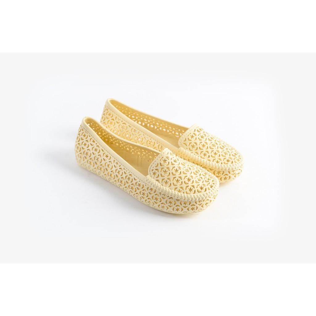 Giày nhựa đi mưa Nữ Solemate PVC05 Kem