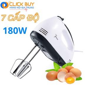 Máy Đánh Trứng Cầm Tay 7 Tốc Độ Công Suất 180W Kèm 4 Đầu Khuấy INOX Cao Cấp Bảo Hành Uy Tín thumbnail