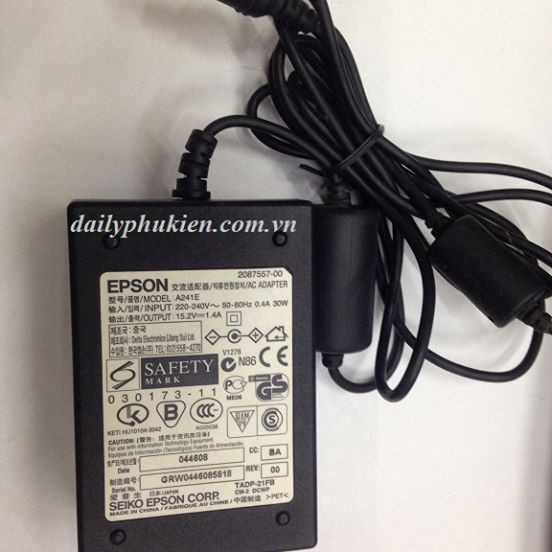 Adapter nguồn máy Scan Epson 15.2V 1.4A LK0622 - 14376671 , 1955546733 , 322_1955546733 , 269000 , Adapter-nguon-may-Scan-Epson-15.2V-1.4A-LK0622-322_1955546733 , shopee.vn , Adapter nguồn máy Scan Epson 15.2V 1.4A LK0622