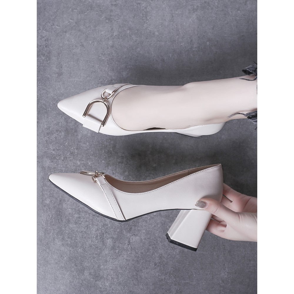 【จัดส่งฟรี】ากริชป่าฤดูใบไม้ผลิและฤดูร้อนของเกาหลีชี้รองเท้าปากตื้นรองเท้าทำงานน้ำ