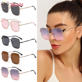 XIANSTORE Fashion Anti-Blue Light Glasses Vintage Eye Protection Glitter Eyeglasses Women Portable Oversized Computer Square Ultra Light Frame