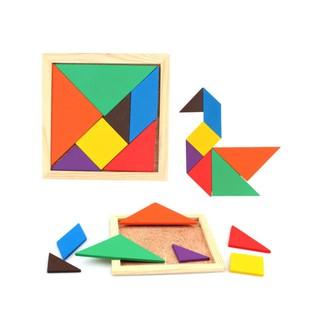 Bộ đồ chơi ghép hình thông minh trò chơi trí tuệ 7 miếng ghép Kagonk - Đồ chơi gỗ cao cấp