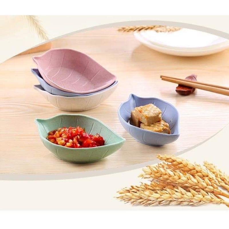 1 Chén gia vị hình chiếc lá Chất liệu lúa mạch