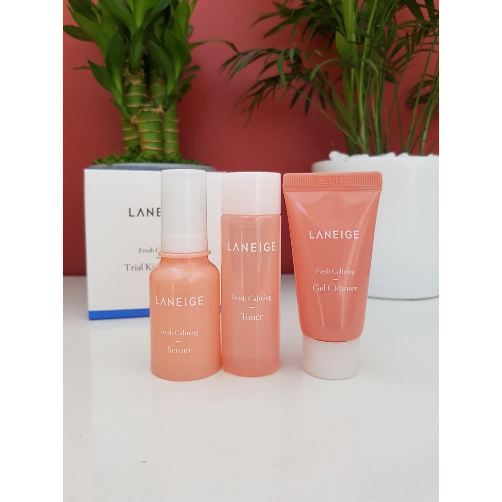 Set dưỡng da Laneige Fresh Calming Trial Kit