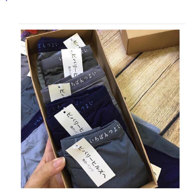 Hộp 5 sịp chéo Muji cotton chất SIÊU đẹp