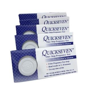 (CHÍNH HÃNG/GIÁ SỐC) Que thử thai Quickseven phát hiện thai sớm chính xác 99%