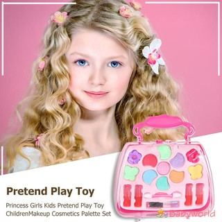 Princess Girls Kids Pretend Play Toy Children Makeup Palette Set【BabyWorld1】