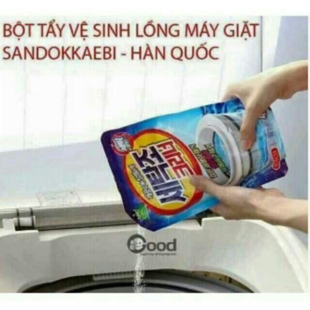 Bột tẩy vệ sinh lồng máy giặt sandokkaebi - Hàn Quốc - 15276378 , 613053047 , 322_613053047 , 30000 , Bot-tay-ve-sinh-long-may-giat-sandokkaebi-Han-Quoc-322_613053047 , shopee.vn , Bột tẩy vệ sinh lồng máy giặt sandokkaebi - Hàn Quốc