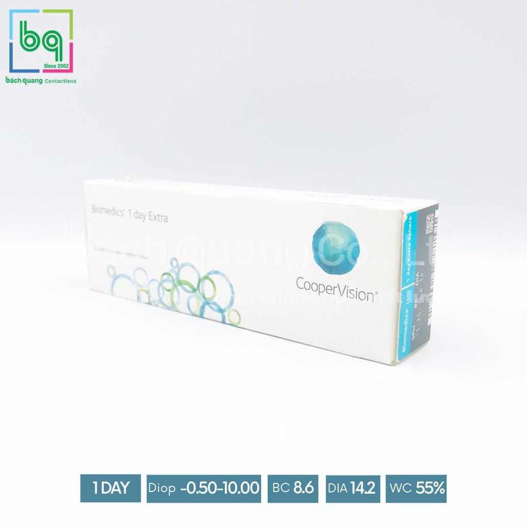[1 cặp] Kính áp tròng trong suốt 1 ngày BIOMEDICS 1 DAY Extra(Có đến 10 độ)