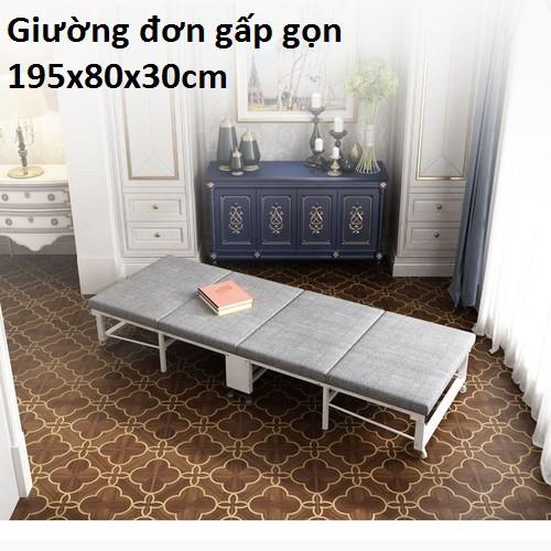 Giường đơn gấp gọn 195x80x30cm , Nội thất phòng ngủ