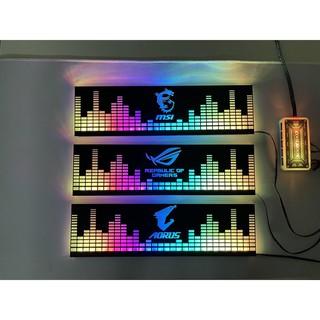 Cover Che Nguồn Máy Tính Led RGB Đồng Bộ Hub Coolmoon Và Mainboard (3Pin 5V) - Họa Tiết Sóng Nhạc và Logo Các Hãng thumbnail