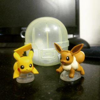 Mô hình pokemon_Gacha Pikachu & Evee