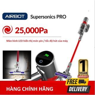 máy hút bụi không dây cầm tay Airbot Supersonics PRO Đèn chiếu sàn . Màn hình hiển thị LED 25.000Pa 3 mức hút