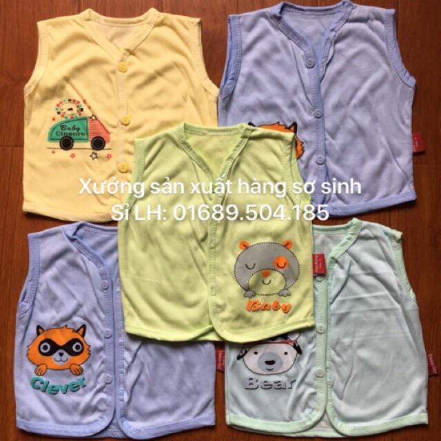 Áo gilê cotton 2 lớp, áo gilê mỏng cho bé