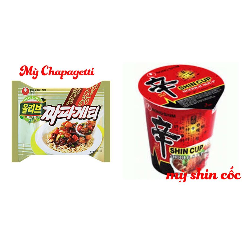 mỳ shin và mỳ Chapagetti hàn quốc