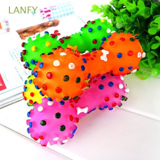Kids Gift Cute Chewing Squeaker Animal Rubber Dumbbell Ball